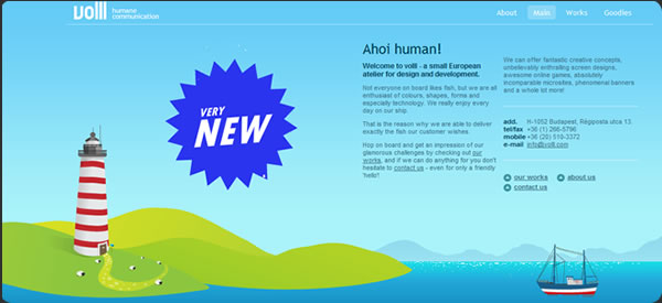 Volll.com, logo design, website design, game design, banner design